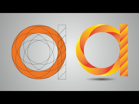 How to make a logo in adobe illustrator | Logo design tutorial | Graphic design tutorial thumbnail