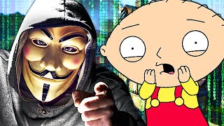 stewie griffin finds a hacker on cod call of duty trolling
