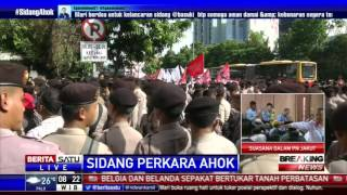 Pantauan Udara Situasi PN Jakarta Utara Jelang Sidang Ahok