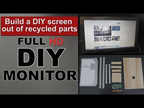 DIY Build a pc monitor, screen out of old laptop lcd