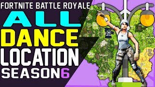 Where To Dance On A CLOCK TOWER, A PINK TREE and A PORCELAIN THRONE Fortnite Battle Royale