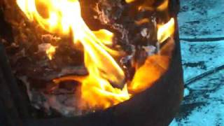 Altöl-Werkstatt-Ofen / waste oil stove / drip feed heater