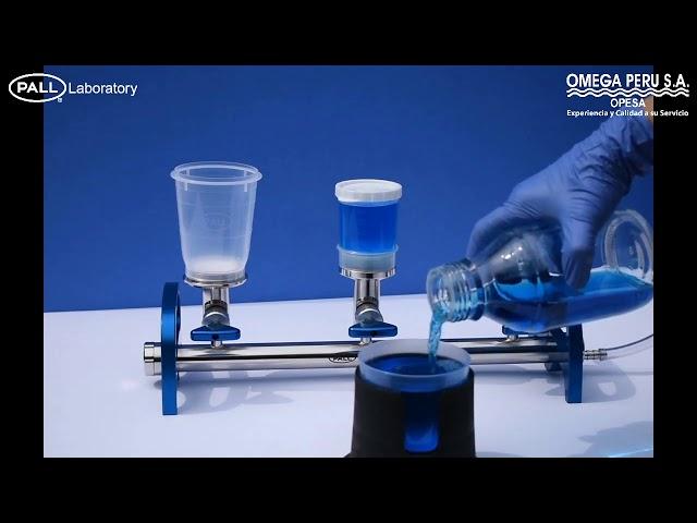 Control de calidad microbiológico MicroFunnel Plus Dispositivo todo en uno de muestreo y filtración