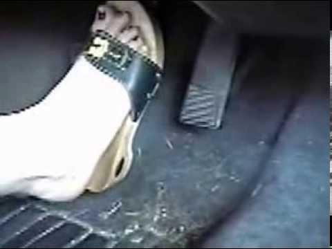 Barefoot pedal pumping red toenails part 1 wwwprettyfeetvideocom - 2 3