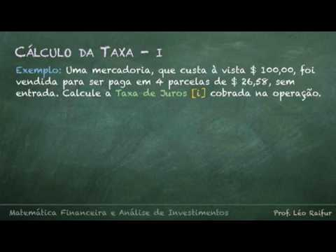Matemática Financeira e Análise de investimentos