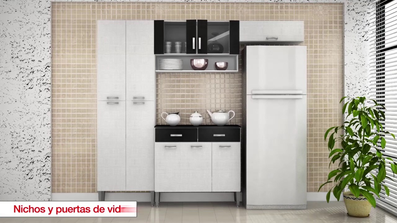 Kit muebles de cocina 220x201x36 cm melamina