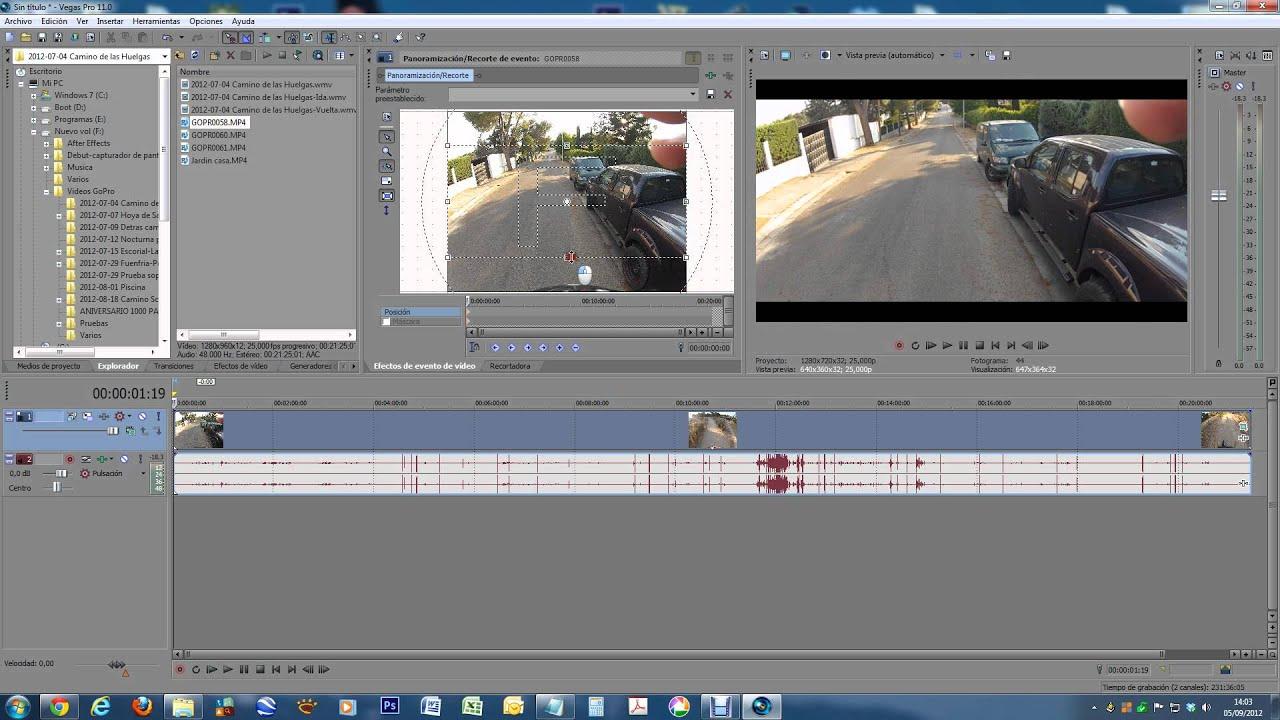 Tutorial Sony Vegas: Encuadrar 1280x960 en 1280x720 sin deformación ...