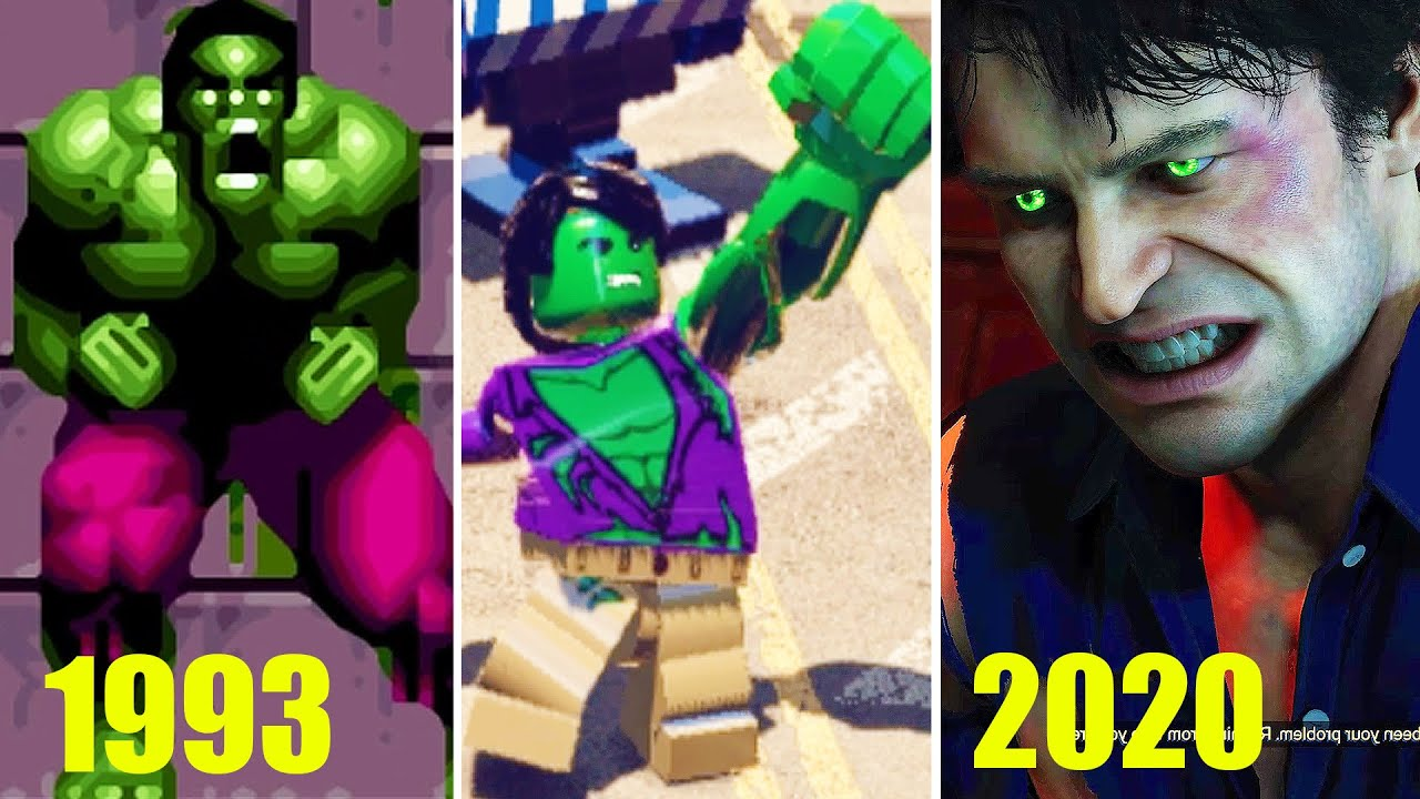 Bruce To Hulk Transformations in Video Games 1993-2020
