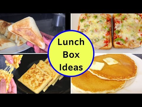 4 Lunch Box Recipes - Lunch Box Ideas - Tiffin Recipes - Back To School