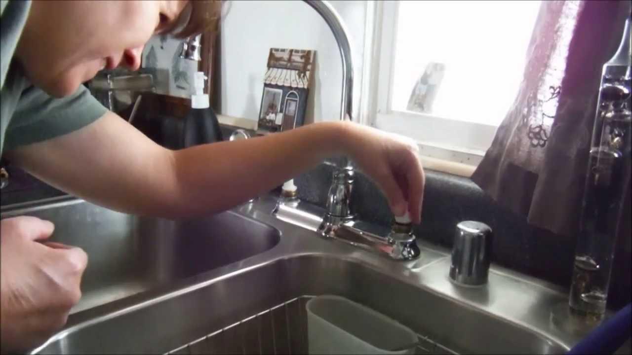 moen kitchen faucet two handle repair
