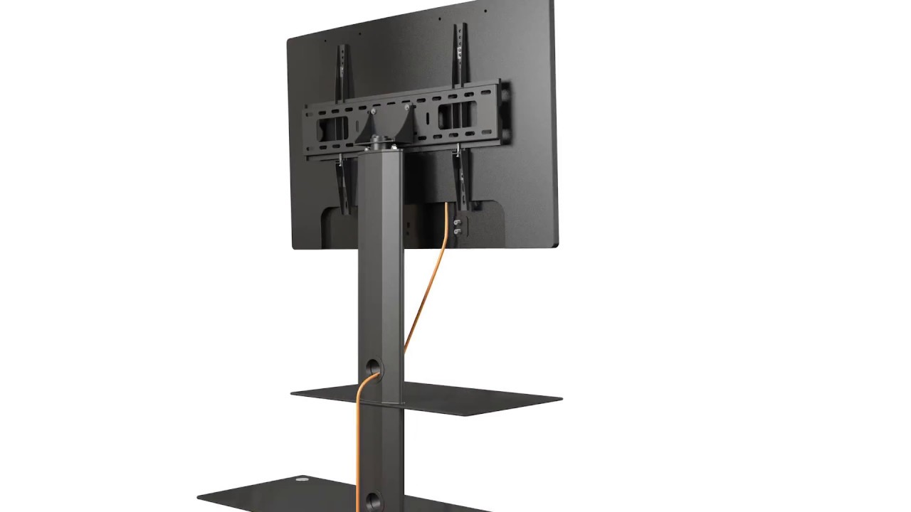 How To Install A 32 60 Tv Floor Stand Tv Mount Texonic Model