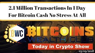 2.1 Million Transactions For Bitcoin Cash In 1 Day With No Stress..