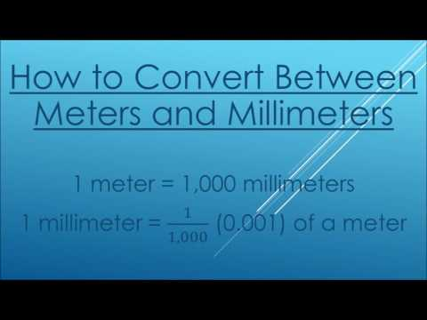 Converting Between Meters And Millimeters