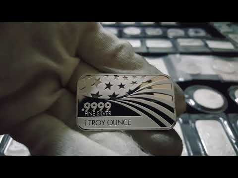 2017 Silver bar, rounds & coin Part 1