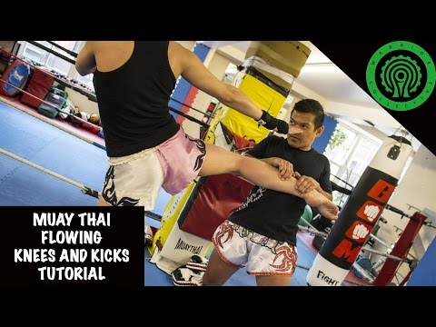 Muay Thai Flowing Knees and Kicks Tutorial