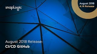 August 2018 Release: GitHub Cloud Integration