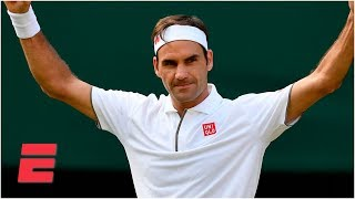 Roger Federer captures his 100th Wimbledon match win | 2019 Wimbledon Highlights