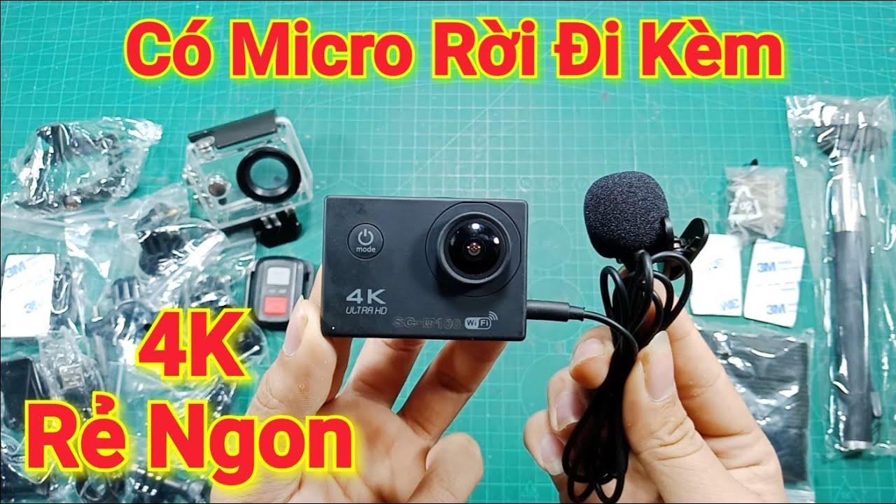 Camera Hành Trình Quay 4K Giá Rẻ SC-M100 Quay Đẹp Có Micro rời đi kèm