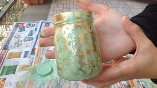 How To Make a Cute Vintage Decor Jar - DIY Home Tutorial - Guidecentral | Guidecentral English