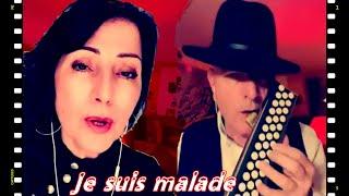 Je suis malade, une très belle chanson, interprétée par Eva Loureiro, accompagnée avec un Accordina.