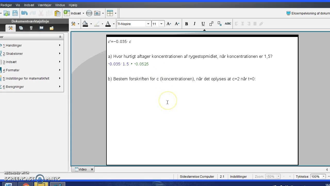 Differentialligninger - Opgave 9.325