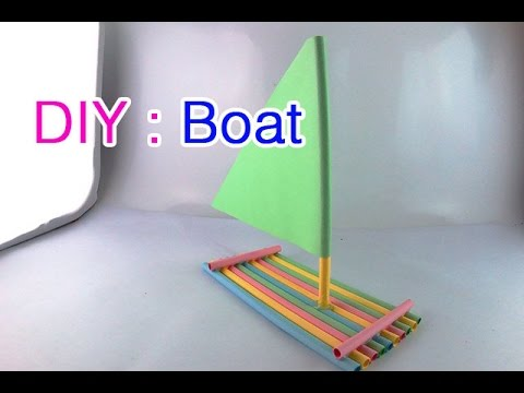 How to Make Sailboat Using Paper for Kids