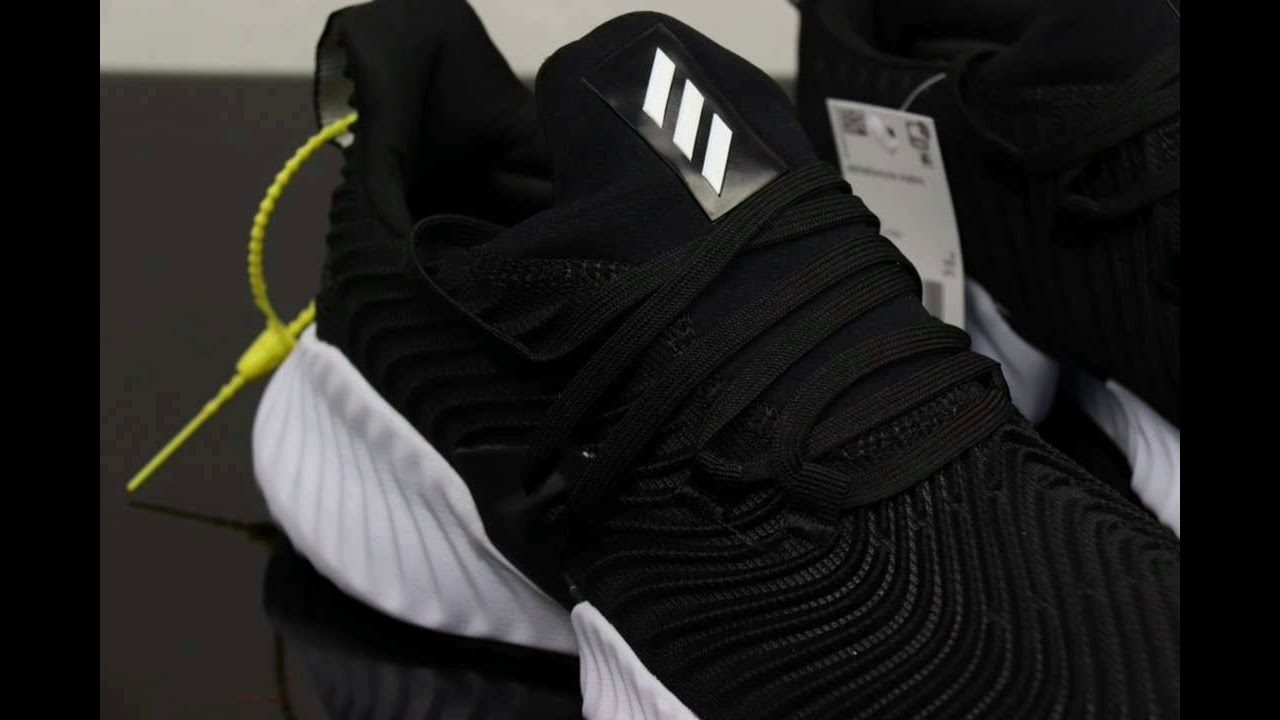 249f4bdab Adidas AlphaBounce Instinct Black White Authentic - YouTube