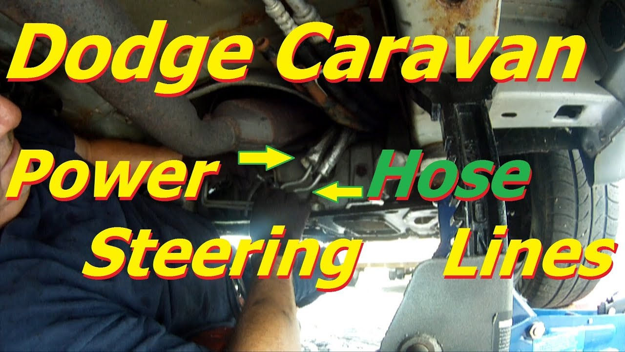 maxresdefault dodge caravan power steering hose line replacement start to finish