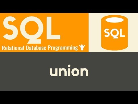 Union | SQL | Tutorial 16