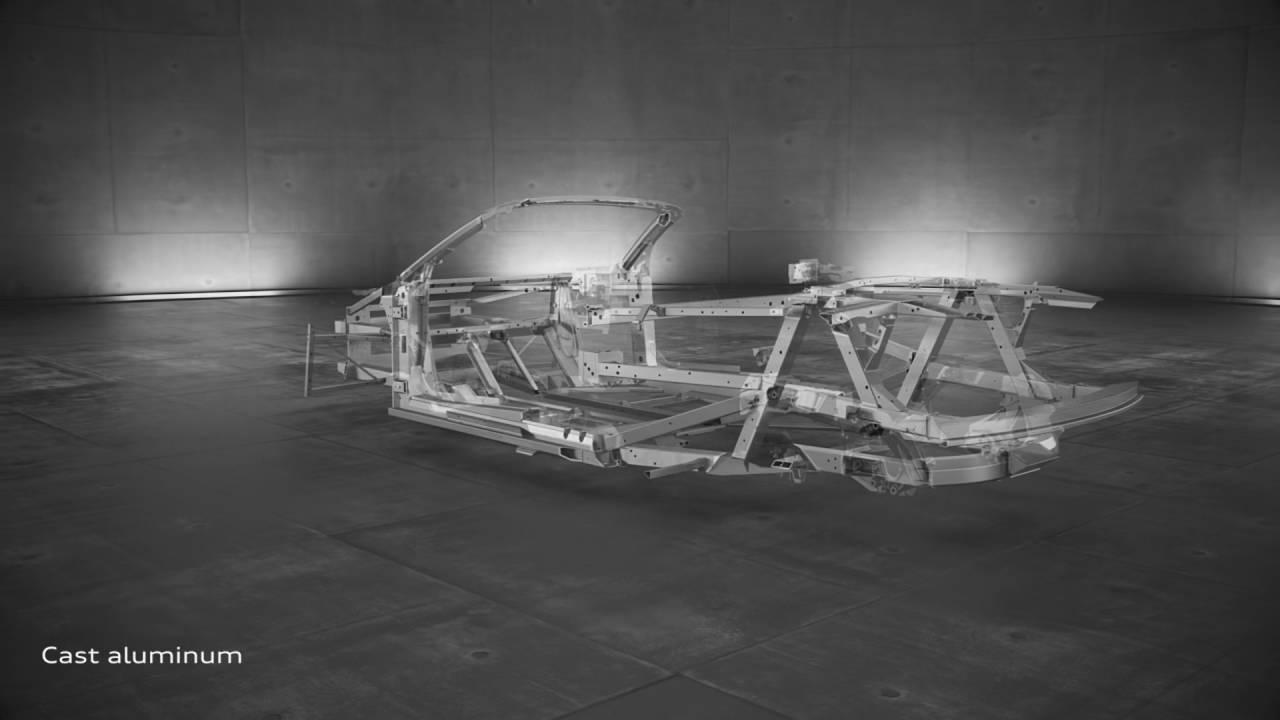 2017 Audi R8 Spyder Audi Space Frame Construction Youtube