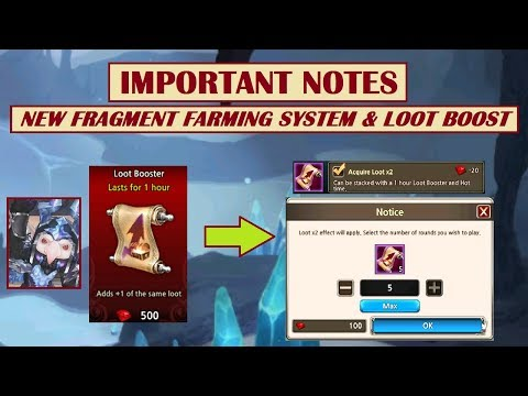 King's Raid - New Fragment Farming and Loot Boost System