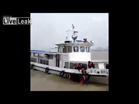 Sand transport ship Sinks in the Yangtze River, China