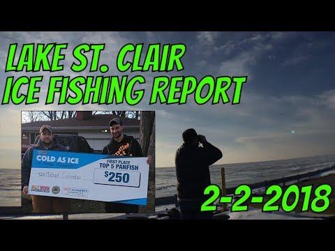 Lake St  Clair Michigan Ice Report 2-2-2018