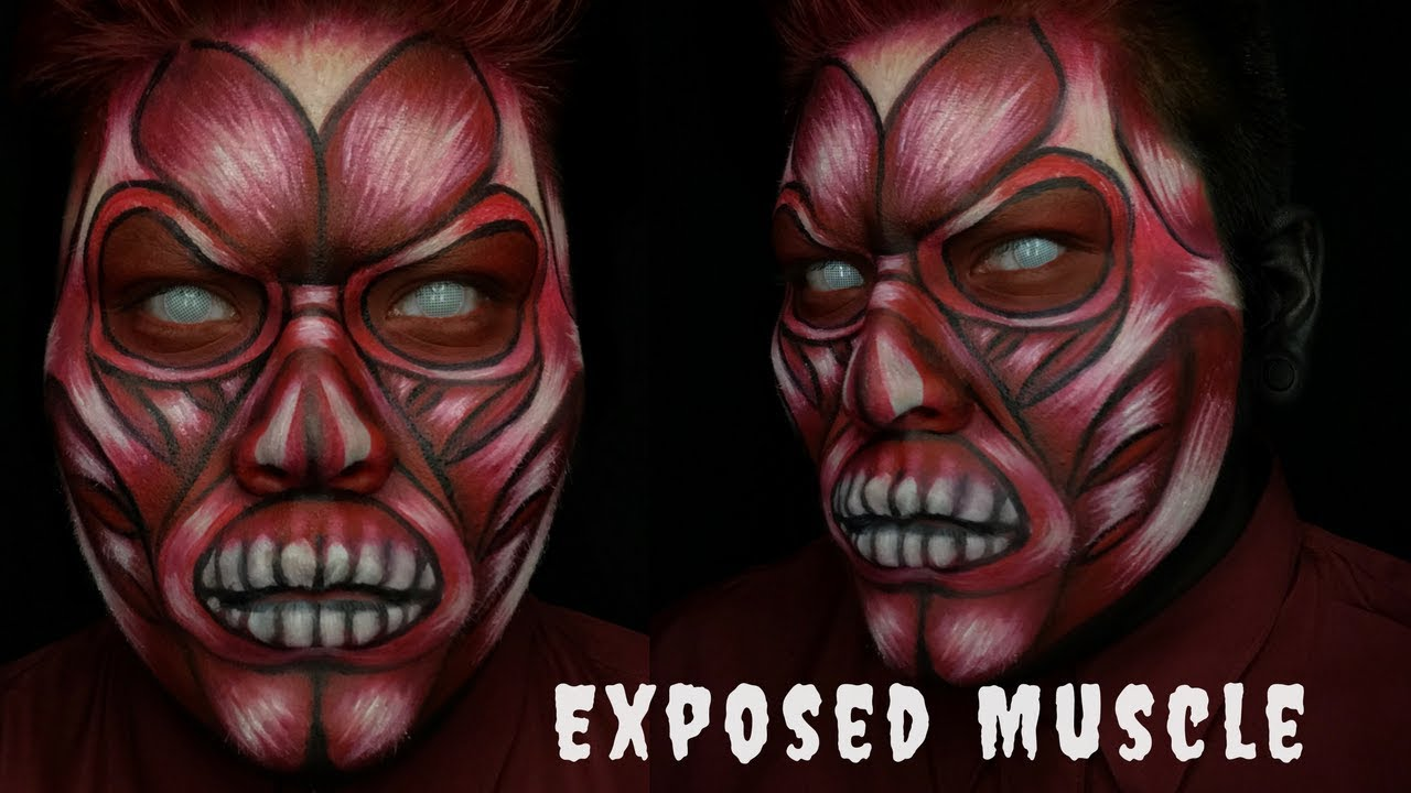 exposed muscle halloween costume makeup tutorial - Halloween Muscle