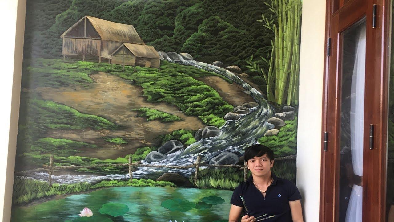 Vẽ tranh tường 3D – Vẽ tranh tường phong cảnh 3D  – Vẽ tranh 3D | Vẽ Tranh Tường HUE