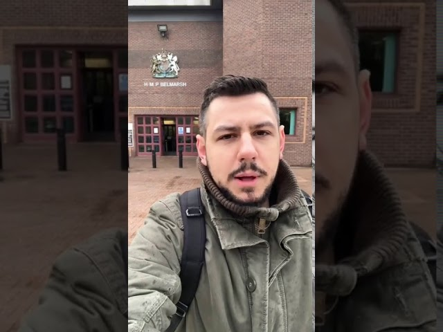 Belmarsh Prison: Guard Stops Me From Filming