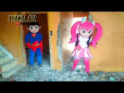 badut-lucu-🤡-badut-mampang-silermon-dan-supermen-asik-bermain-di-rumah-gusuran