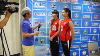 Asian Women Volleyball U19 Press Conference Kazakhstan #20 Sabina Altynbekova #3 Tatyana