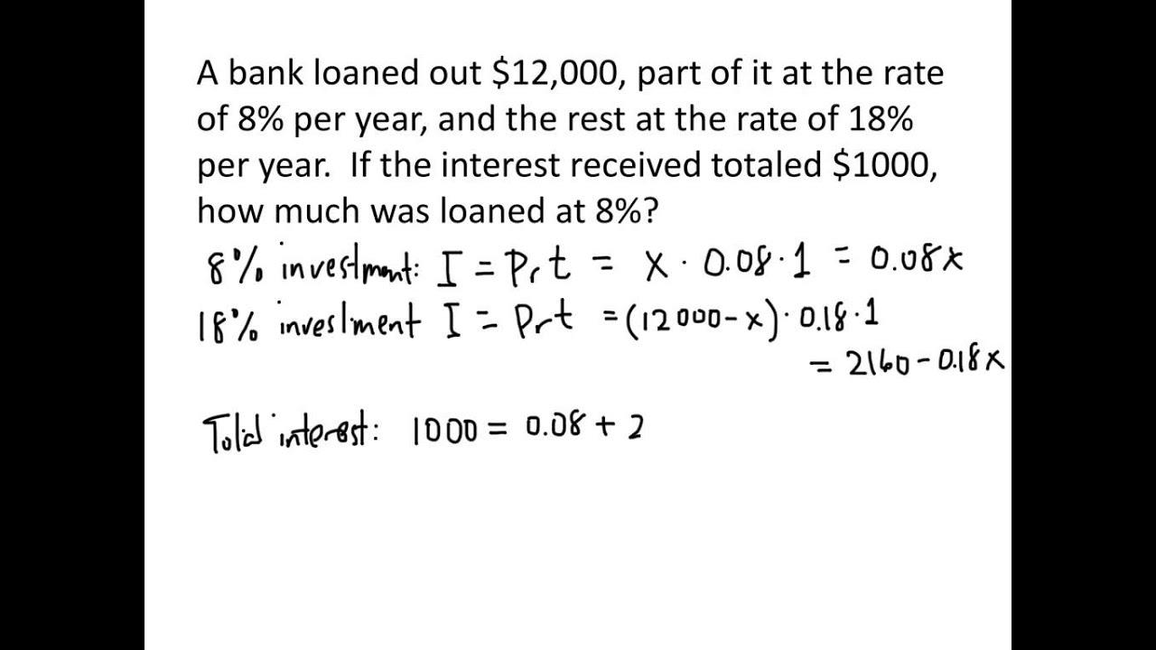 example interest problem linear example interest problem linear