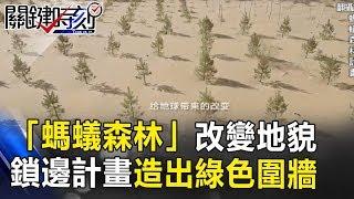 向沙漠爭地!「螞蟻森林」改變地貌!鎖邊計畫造出綠色圍牆! 關鍵時刻 20171205-5 黃世聰 馬西屏