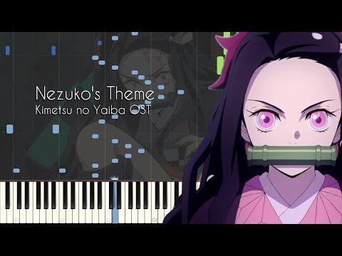 Nezuko's Theme - Demon Slayer/Kimetsu No Yaiba Episode 1, 22, 23 OST - Piano Synthesia + Sheets