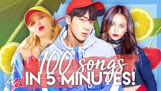 My TOP 100 K-pop Songs of 2017 in 5 MINUTES!