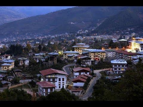 Thimphu, Bhutan ( Views of Thimphu town. Capital city of Bhutan )