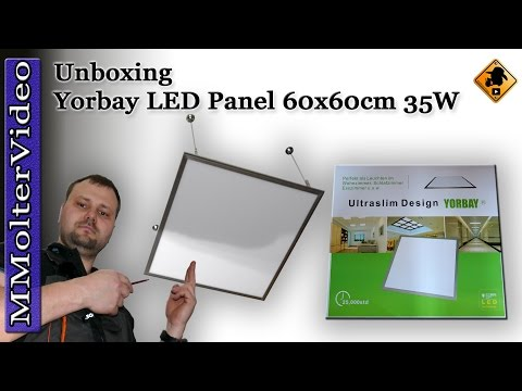 yorbay-led-panel-60x60cm-35w-deckenleuchte-penelleuchte-/-unboxing