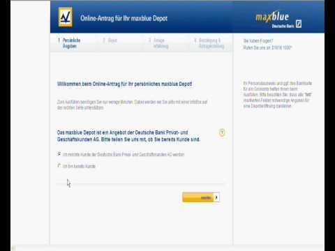 Depoteröffnung bei einem Online Broker  -  Aktien selber handeln