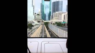 Miami MetroMover In Miami,Florida