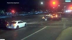 Pedestrians narrowly escape Phoenix car crash