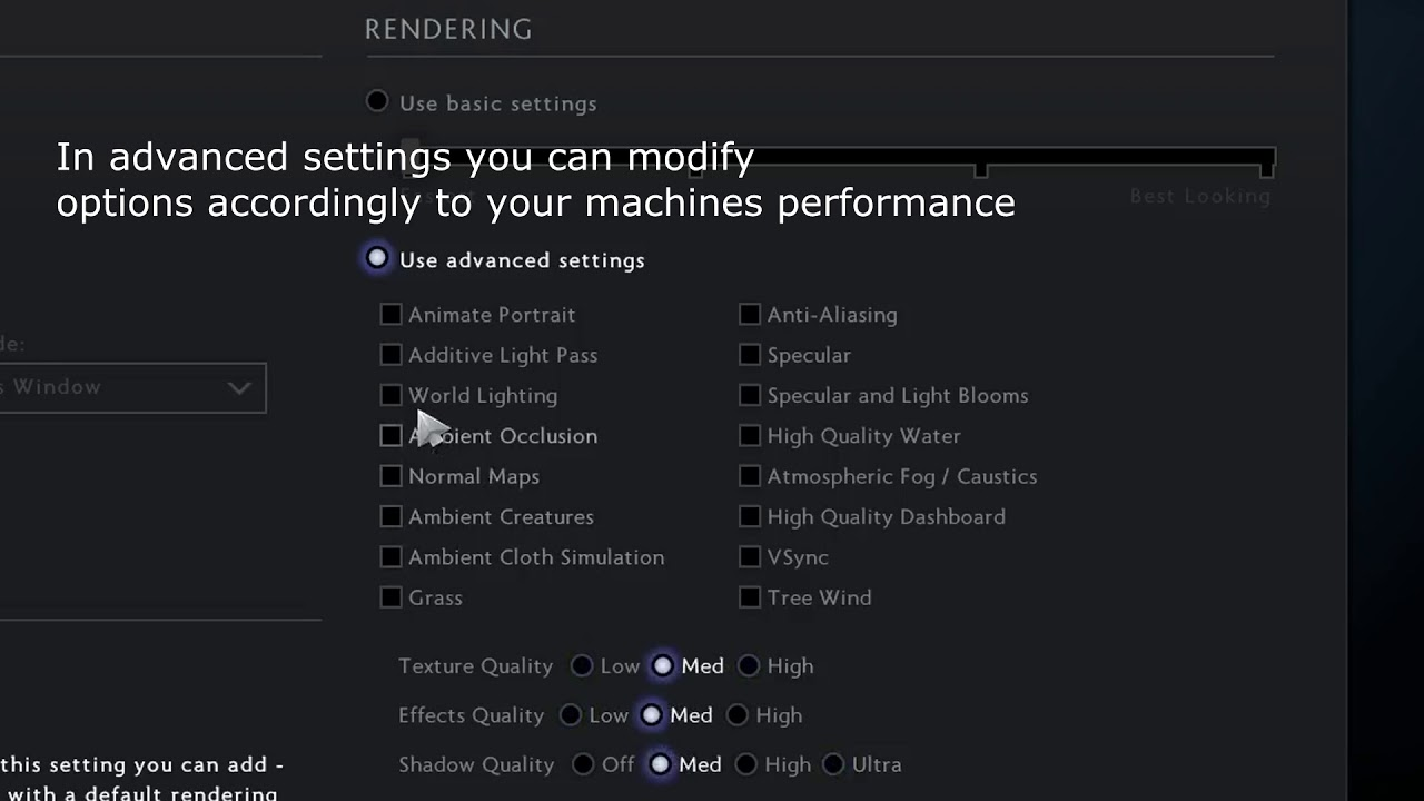 Dota 2 Lag - Game Settings To Improve Performance & FPS (UPDATED)