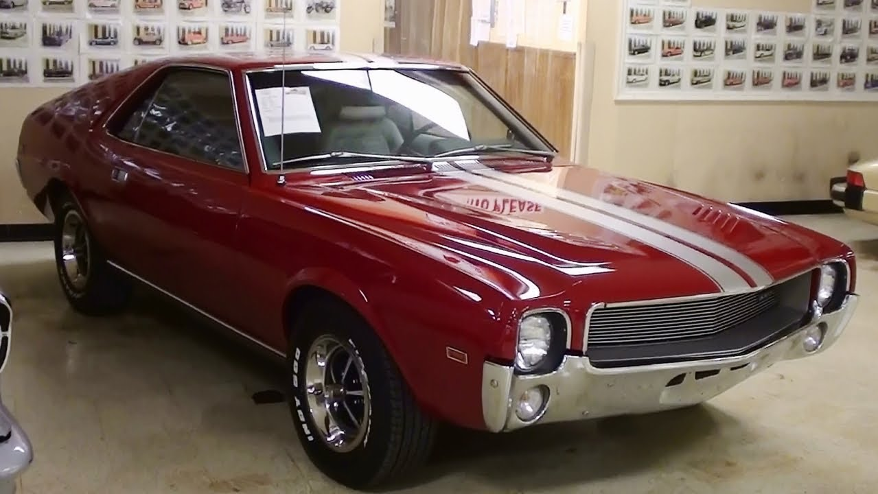 1969 AMC AMX 390 V8 Four Speed Muscle Car - YouTube