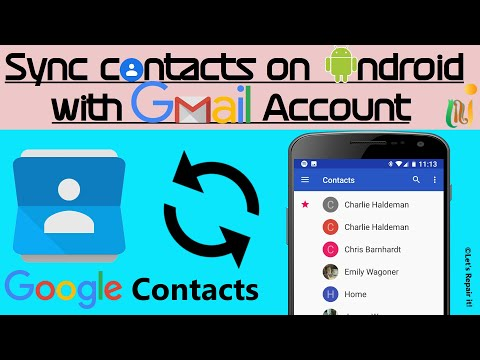 How To Sync/Upload Contacts On Android With Gmail Account || Backup Your Contacts With Google.